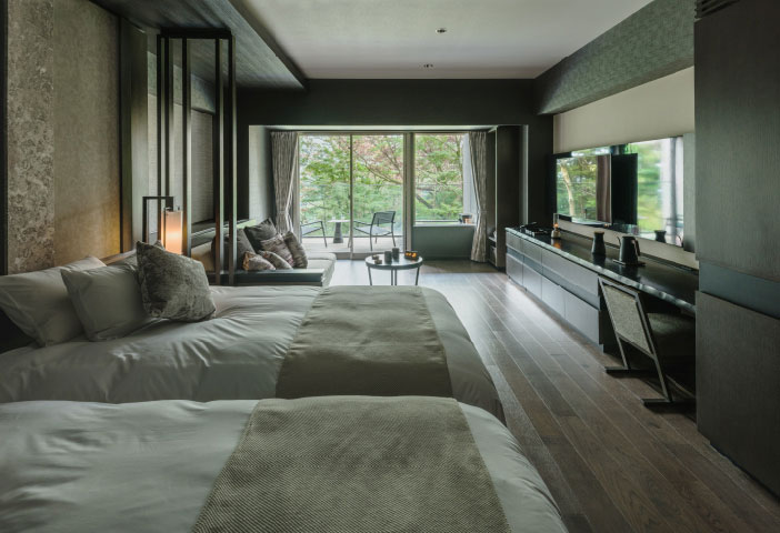Deluxe Room With Open-Air Hot Spring Bath (Western Style)